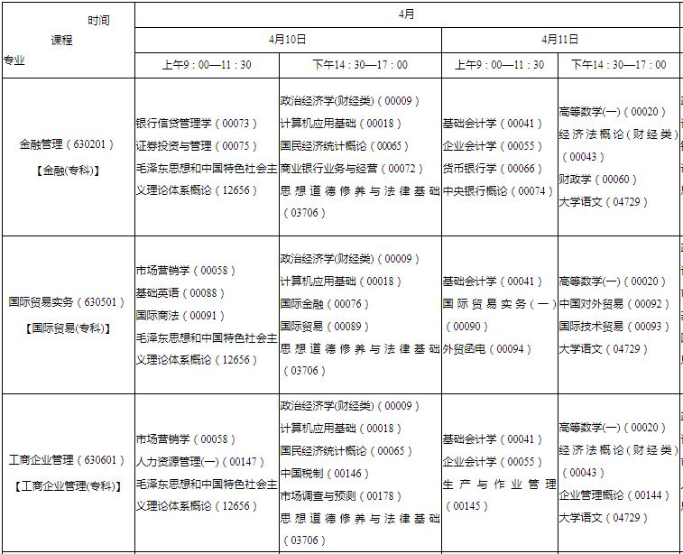 2021年陕西省延安市10月自考时间:10月16日-17日