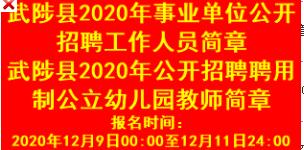 2020年焦作武陟县事业单位招聘考试报名时间|入口