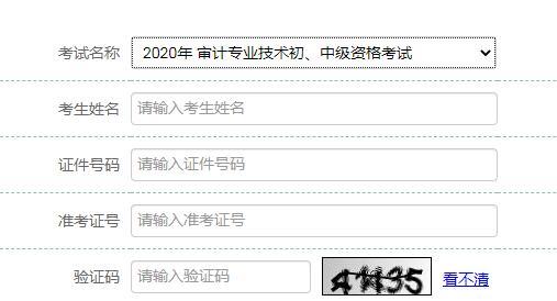 2020年貴州省審計師考試成績查詢入口