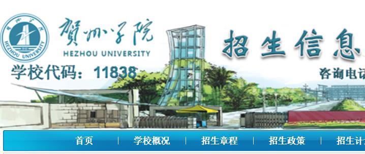 贺州学院2021年艺术专业校考成绩查询系统 入口:http://zsb.hzxy.edu.cn/