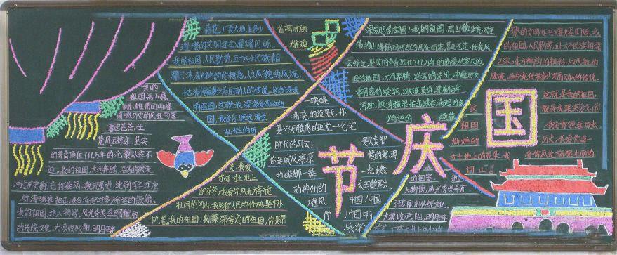 国庆节黑板报内容资料,文字简短,黑板报设计模板