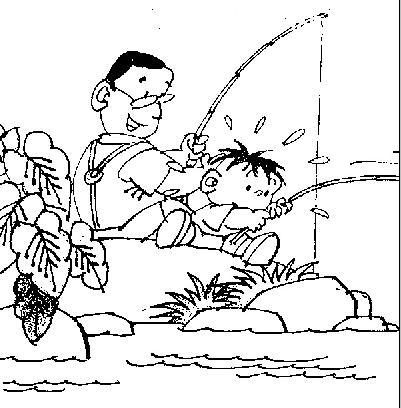 看图写话三年级上册:《户外钓鱼》